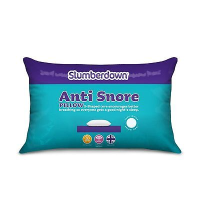 Anti-Snore Sleep Pillow Works Aid Sleeping Anti Snore Stop Snoring New White UK