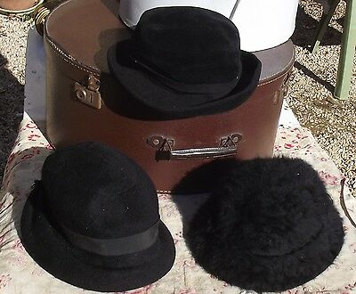 Lot  Vintage French Hats Ladies 1920s felt cloches  For repair design projects