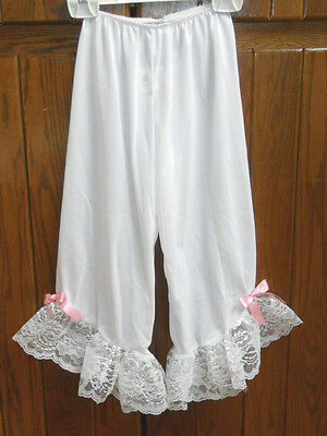 Dansco White Lace Cuff Bloomers Pantaloons Little Girls Small Child