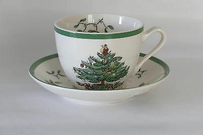 SPODE England Christmas Tree cup and saucer