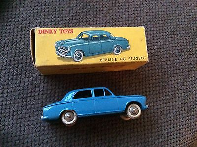 French Dinky 24B Peugeot All Original Car And Box Excellent Plus.