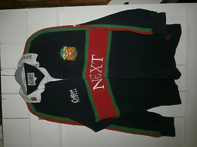 Leicester tigers cotton traders rugny away shirt