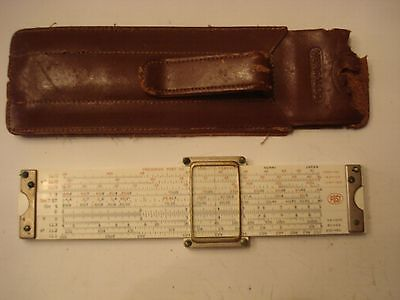 SLIDE RULE FREDERICK POST CO   VERSALOG  #1461  WITH LEATHER case FREE SHIP