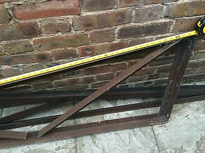 Iron Framework Sections Triangular Ideal For Shed Garage Outbuilding Constructs