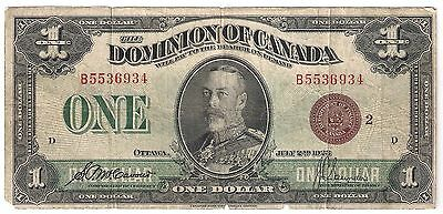 1923 Dominion of Canada 1 Dollars B5536934 DC-25i
