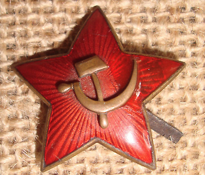USSR CCCP ORDER MEDAL SOVIET PIN WWII Hat Star BADGE