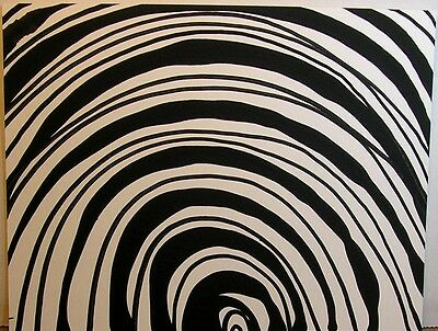 Wholesale LOT of 11 Matching Black n White Original Paintings Lines and Curves