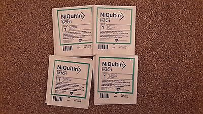 4 pack of 7 Niquitin Clear step1 21mg patch Total 28