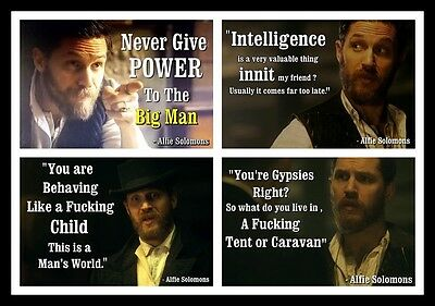 Alfie Solomons Peaky Blinders Tom Hardy Magnet 4 to Choose from