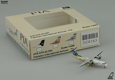"PIA   ATR42   ""Blue Tail""  Scale 1:400  JC Wings Diecast Models     JC4163"