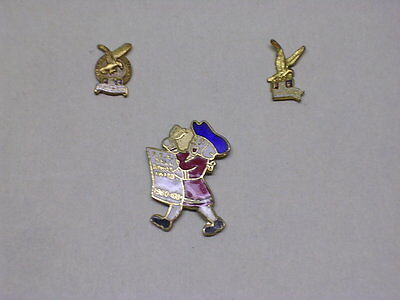 3 Fraternal Order Of Eagles Lapel Pins, Buttonhole pins, 3 styles