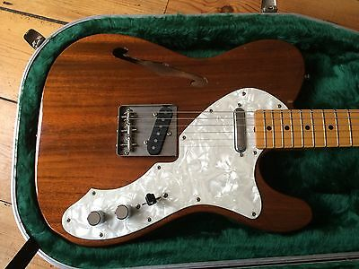 Fender Thinline Telecaster Electric Guitar Made in Japan 1985-86 + Hiscox Case