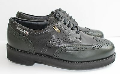 BNIB UK4.5/US7/EU37.5 Mephisto Lady's Golf Shoes in Black/Green Leather