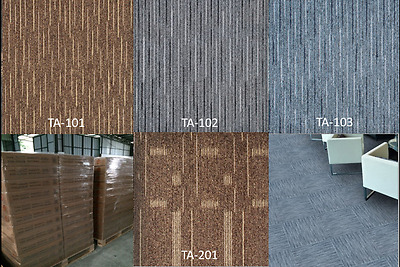 "UNBEATABLE SALE! NEW Carpet Tile 18"" x 18"" WATER RESISTANT 4 STYLES, BOX of 1,5"