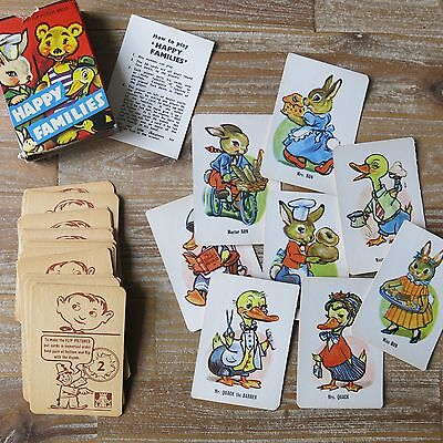 Vintage original Happy Families card game - cute animals - complete - 50s or 60s