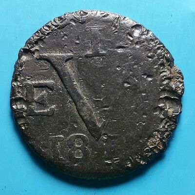 Netherlands East Indies EVIC JAVA Duit 1813 (TIN) Scarce