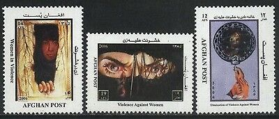 Three stamps of Afghanistan Elimination of Violence Against Women 2006