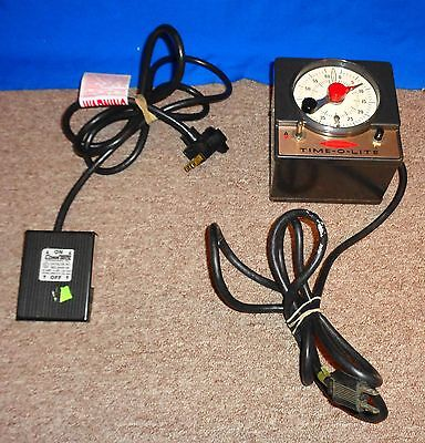 Very Nice Time-O-Lite Professional Timer Model P-59 with Foot Pedal Take a LOOK