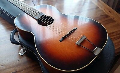 Vintage 1950s parlour guitar - made in Germany (Voss) - with hardcase