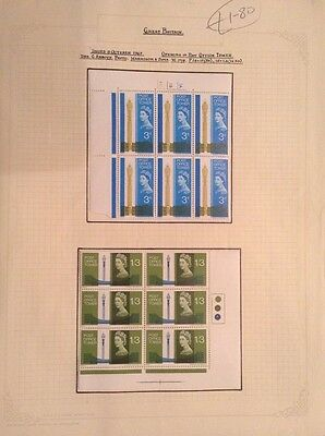 19. British Mint Condition Stamps Featuring Openiing Post Office Tower 1965