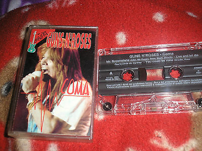 Guns N' Roses Coma In Concert(Live) Cassette Italy 1992