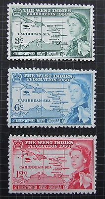 ST. KITTS AND NEVIS  West Indies Federation SET SG120 2  MNH