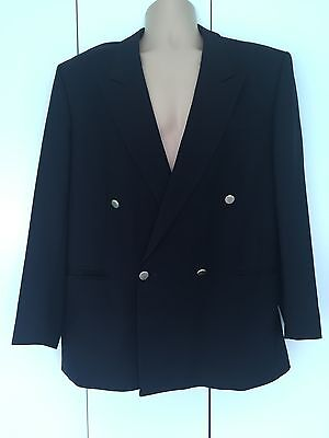 Men's Navy Double Breasted Blazer