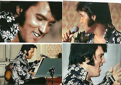 Elvis Presley 8 Photo Color & B/W Set-1970 Rehearsals in Black Shirt & FREE CD!