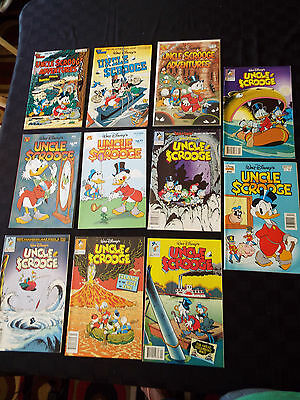 Lot of 11 Walt Disney Uncle Scrooge Adventures  Comic Book Gladstone Giant Comic