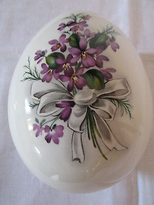 Pretty Vintage Lord Nelson Violet Easter EggTrinket Box