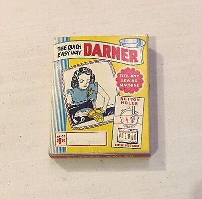 The Quick Easy Way Darner Button Holer Vintage New