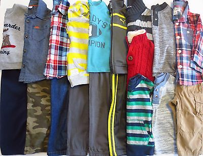 Lot Toddler Boys Size 18 Months Fall Winter Clothes Outfits
