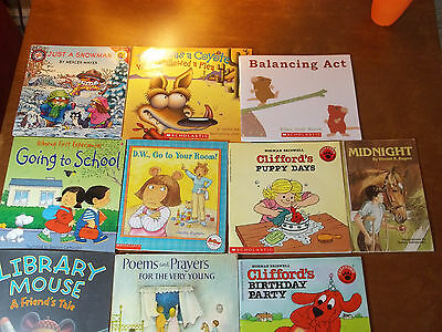 Lot of 10 Picture Read Aloud Books for Children