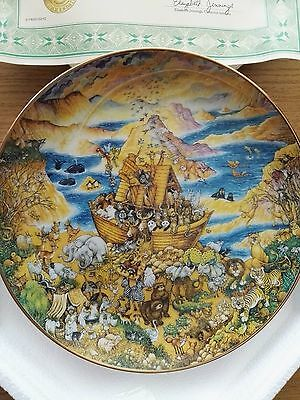 Set of 6 biblically themed collectable Bill Bell plates by Franklin Mint