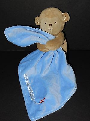 CARTERS Child OF Mine Plush MONKEY captain ADoRaBLe BABY Toy LOVEY rattle BLUE