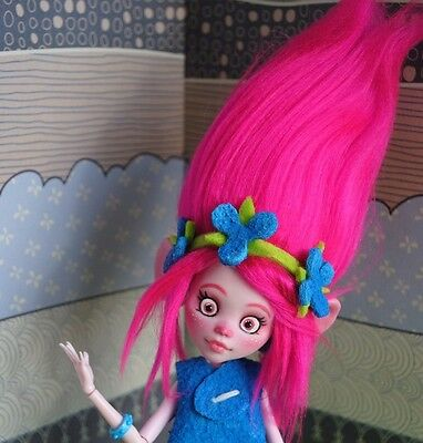 Monster High OOAK TROLLS Poppy Doll Repaint