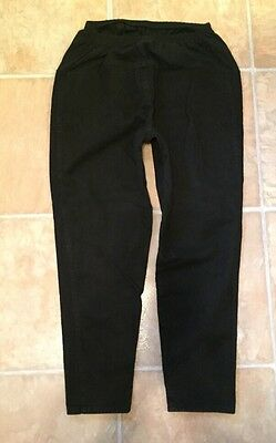 In Due Time Maternity Jeans Relaxed Tapered Leg Black Sz Large