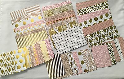 Set of 40 Hand Cut Project Cards for Pocket Life Journaling Letters Tags New