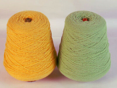 Two cones of Machine or Hand knitting wool