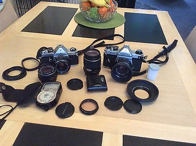 Pentax Camera X2 With Lenses And Accesories