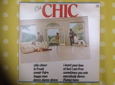 """CHIC 12"""" 10-track LP """"C'est Chic"""" In Excellent Condition V.Collectible & Rare"""