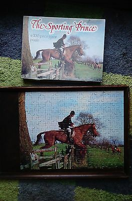The Sporting Prince 200 piece jigsaw puzzle Young Prince Charles horse riding