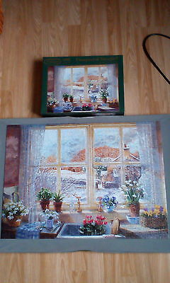 Falcon jigsaw puzzle 1000 pieces Unexpected Snowfall Cottage Kitchen View