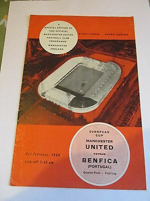 2/2/1966 Manchester United (Best,Law) v Benfica (Eusebio) 1/4 finalEuropean Cup