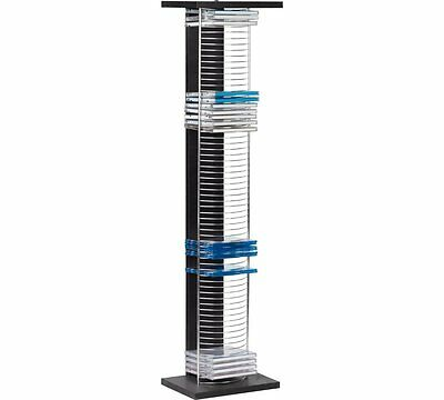 HOME DVD and CD Media Storage Tower Unit - Black and Silver