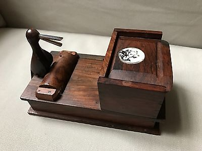 Antique Wooden Cigarette Dispenser