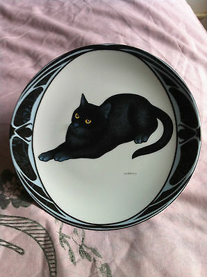 Cat Design Ottlinger Porcelain Plate by Hans Ruttimann No. 5213A