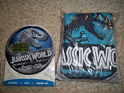 Jurassic World Blu Ray Dvd T Shirt Best Buy Exclusive Nwt Steelbox