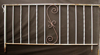 "67""x33"" Vintage Steel Iron Metal Handrail Porch Stair Hand Rail Fence Gate Panel"