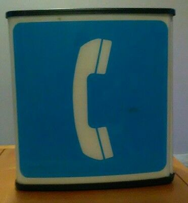 3 sided plastic phonebooth sign